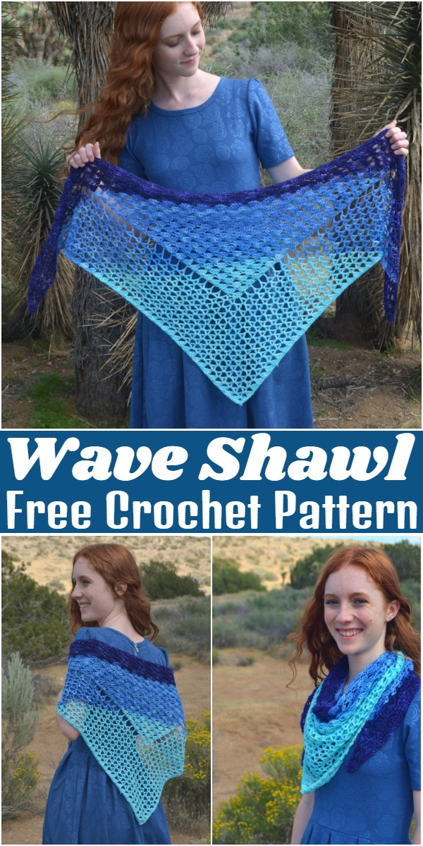 Free Crochet Wave Shawl Pattern