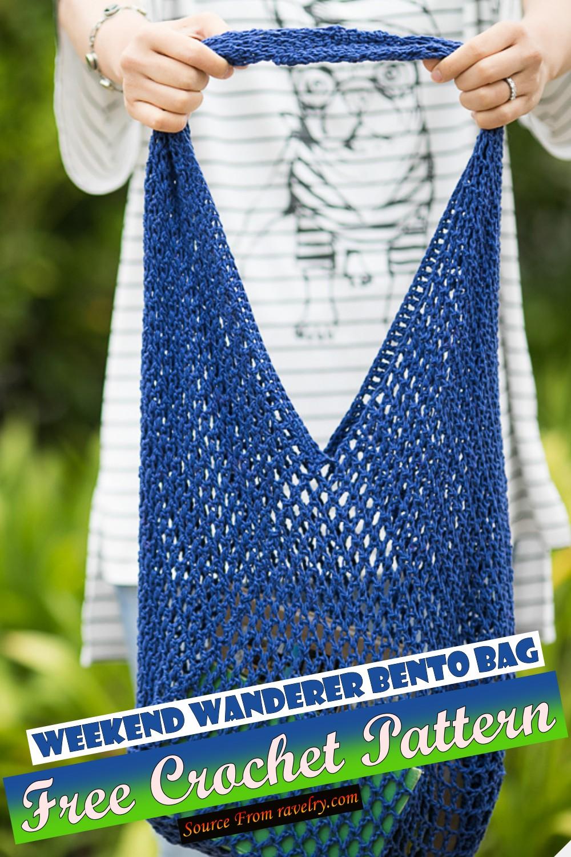 Free Crochet Weekend Wanderer Bento Bag Pattern