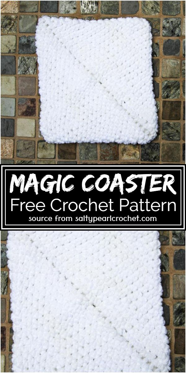 Magic Crochet Coaster Free Pattern