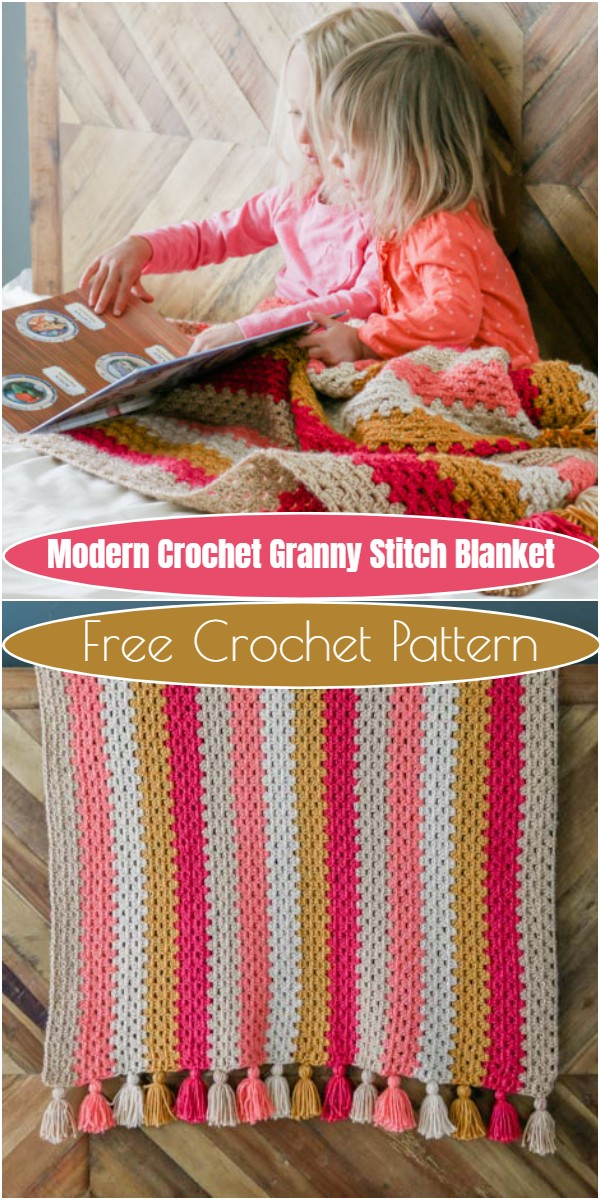 Modern Crochet Granny Stitch Blanket