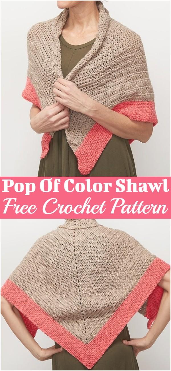 Pop Of Color Shawl Crochet Pattern