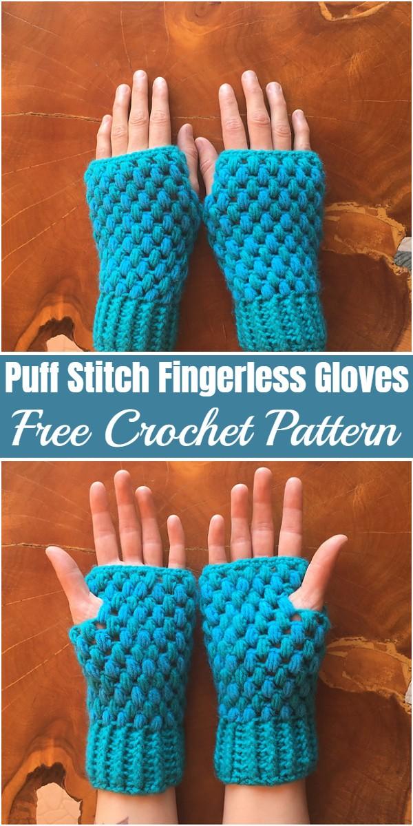 Puff Stitch Fingerless Gloves Free Crochet PatternPuff Stitch Fingerless Gloves Free Crochet Pattern