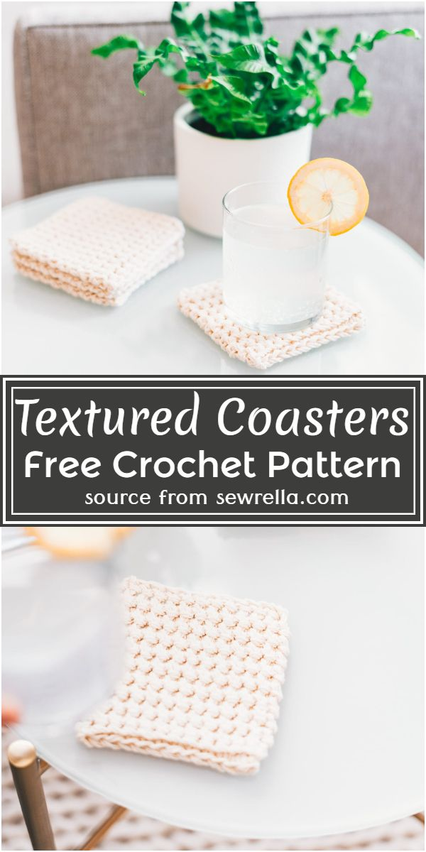 Textured Coasters Crochet Pattern