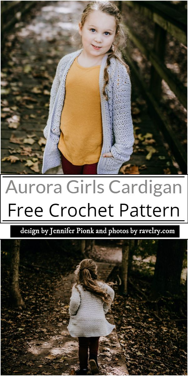 Aurora Girls Cardigan Crochet Pattern