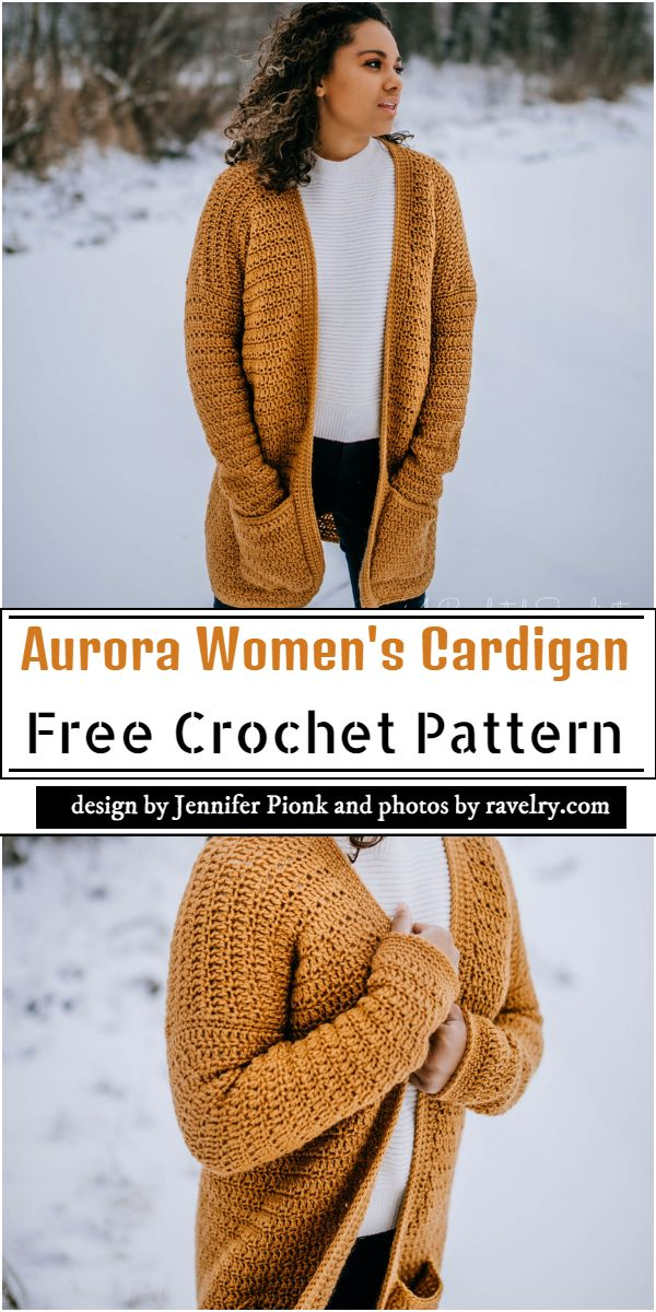 Aurora Women's Cardigan Crochet Pattern