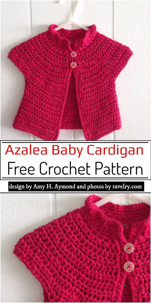Azalea Baby Cardigan Crochet Pattern