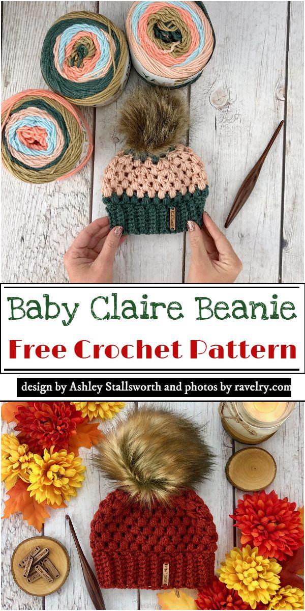 Baby Claire Beanie Crochet Pattern