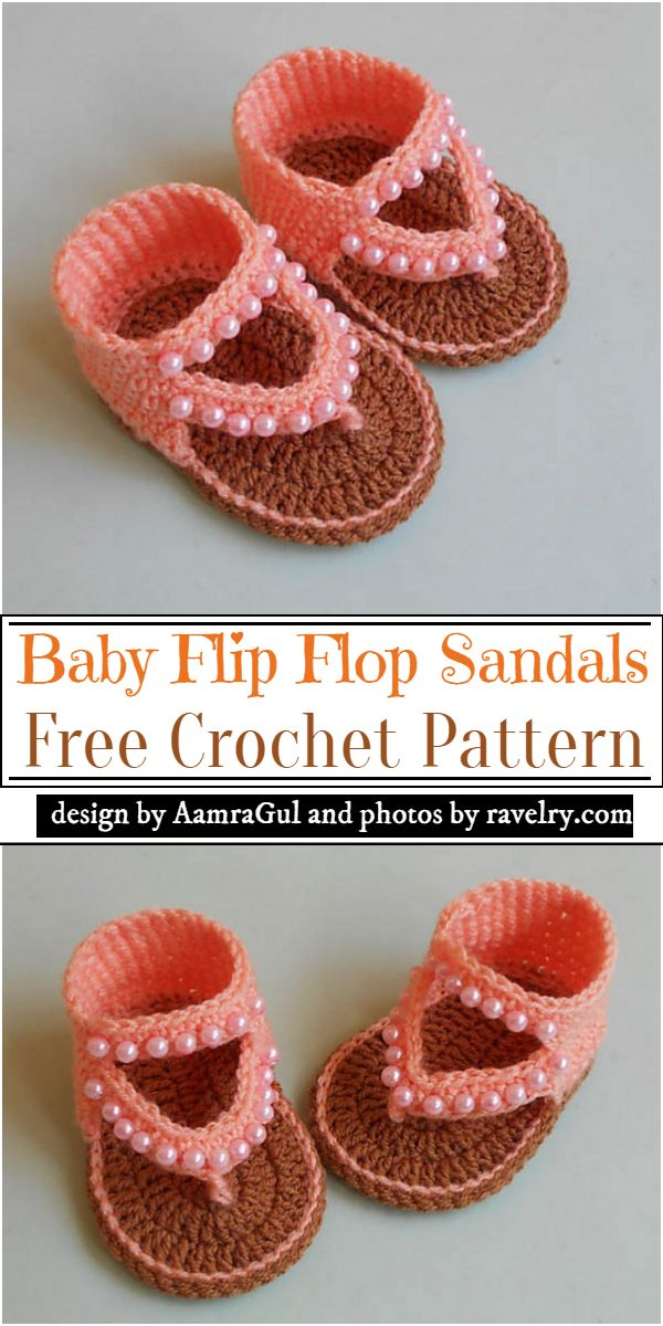 Baby Crochet Flip Flop Sandals Pattern