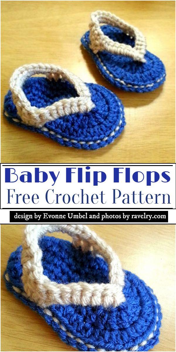 Baby Crochet Flip Flops Pattern