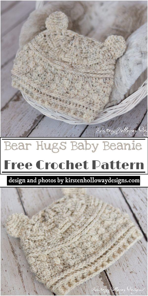 Bear Hugs Baby Beanie Crochet Pattern