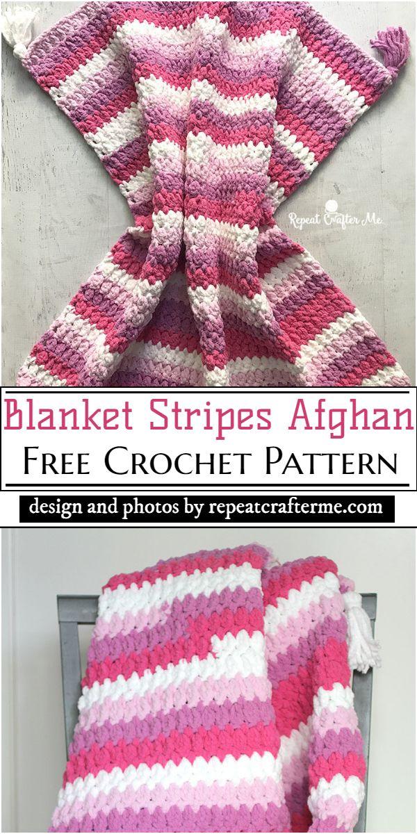 Blanket Stripes Afghan Crochet Pattern