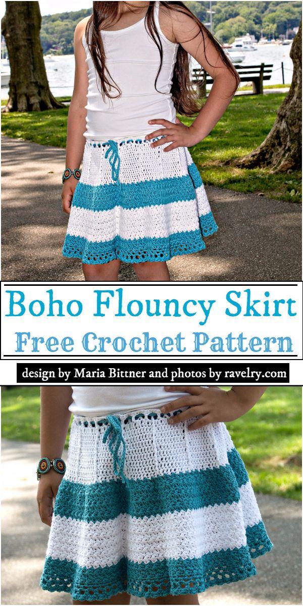 Boho Flouncy Skirt Crochet Pattern