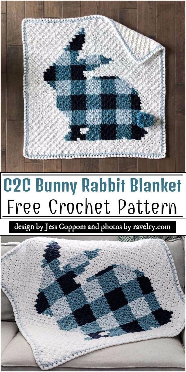 C2C Bunny Rabbit Blanket Crochet PatternC2C Bunny Rabbit Blanket Crochet Pattern