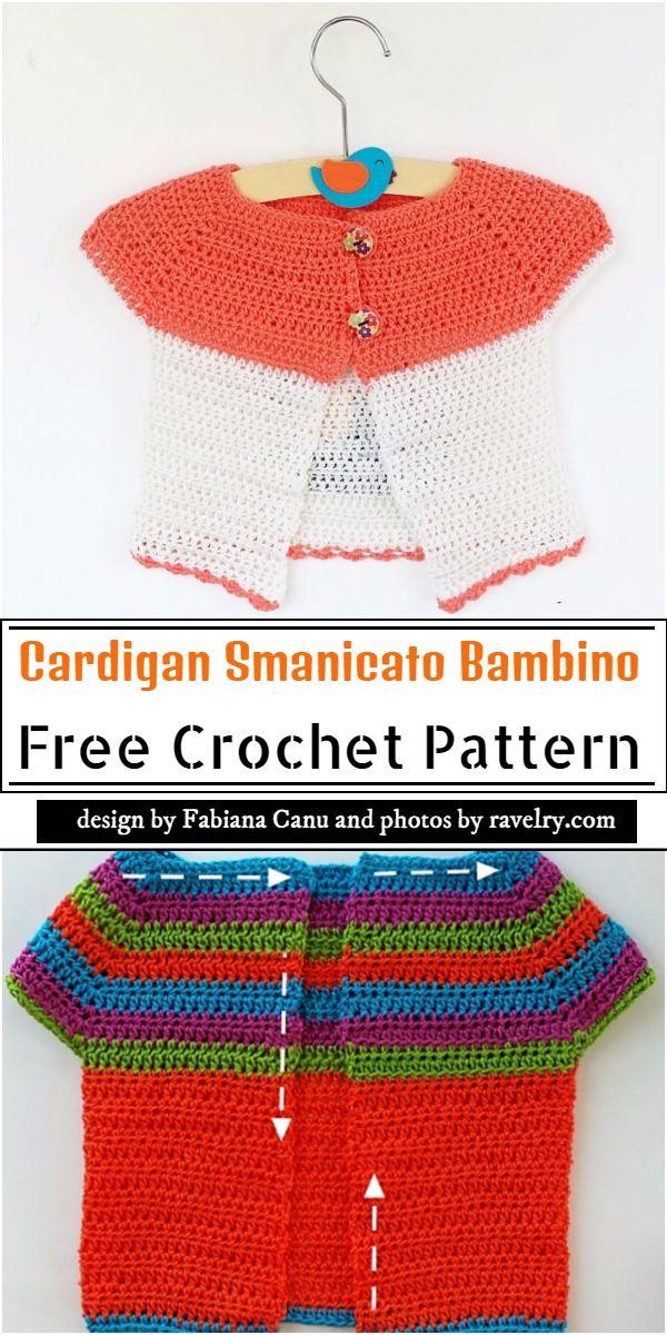 Cardigan Smanicato Bambino Crochet Pattern