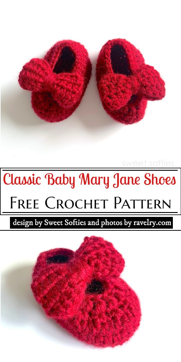 Classic Baby Mary Jane Shoes Pattern