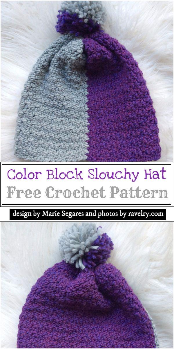 Color Block Hat Pattern