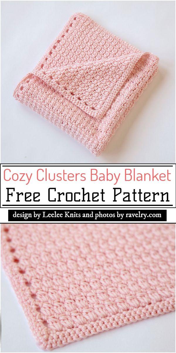 Cozy Clusters Baby Blanket Crochet Pattern