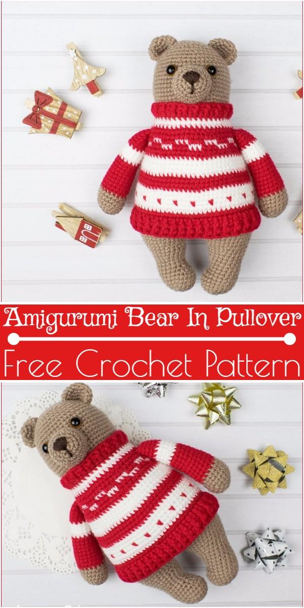 Crochet Amigurumi Bear In Pullover Pattern
