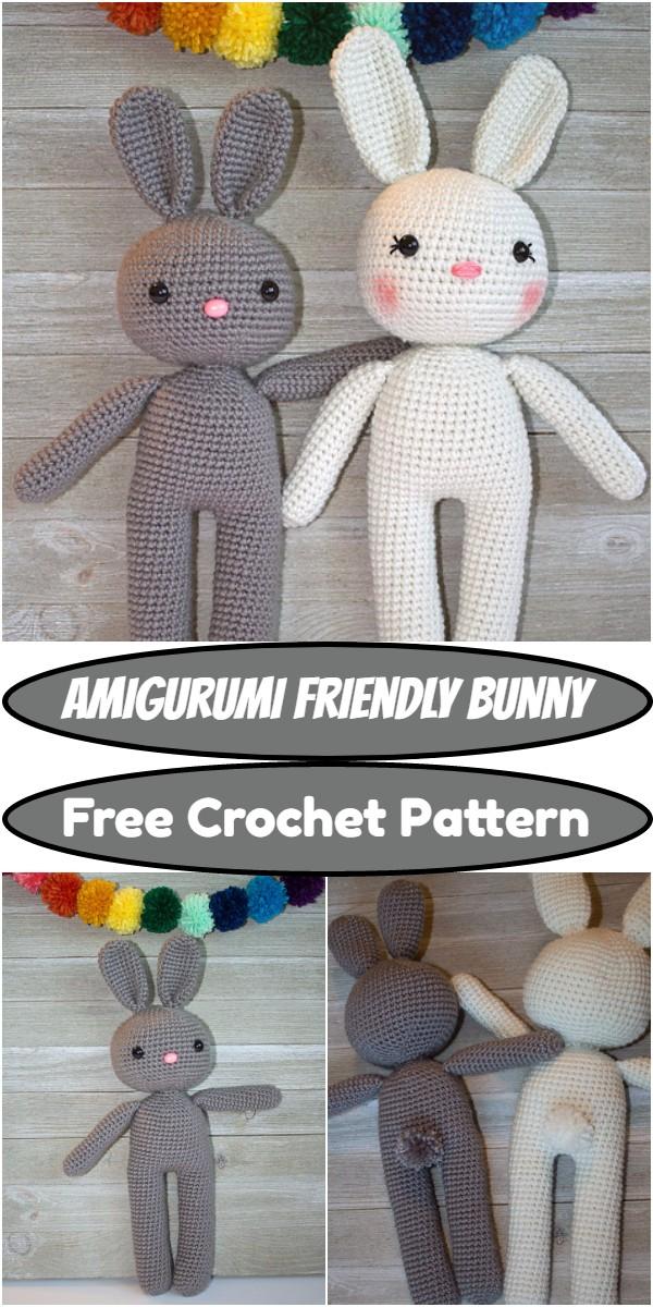 Crochet Amigurumi Friendly Bunny Pattern