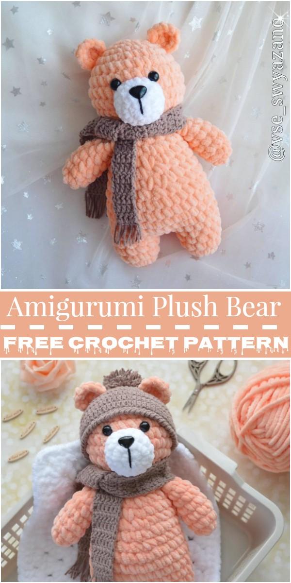 Crochet Amigurumi Plush Bear Pattern
