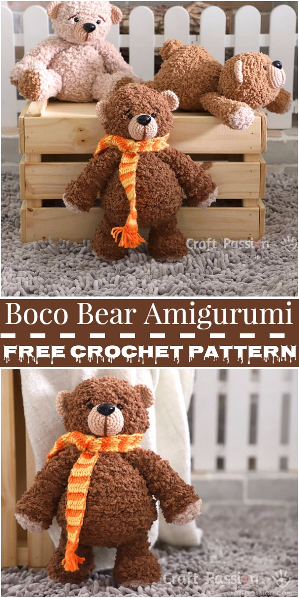 Crochet Boco Bear Amigurumi Pattern