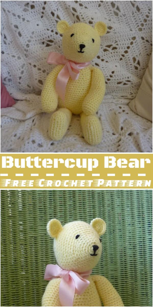 Crochet Buttercup Bear Pattern