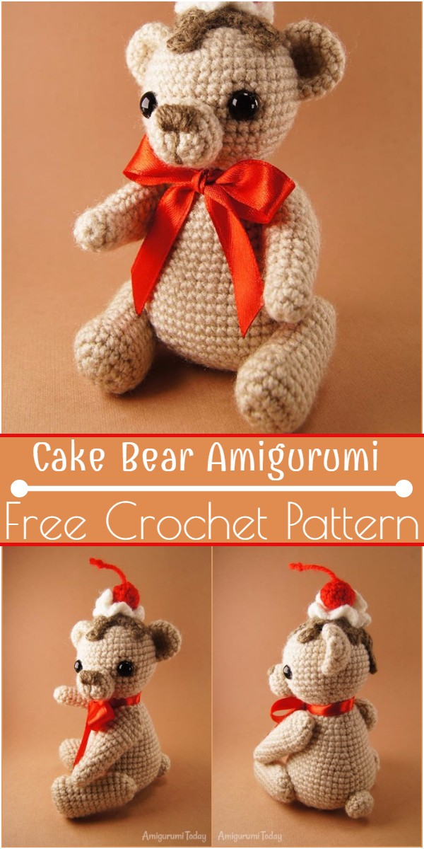 Crochet Cake Bear Amigurumi Pattern