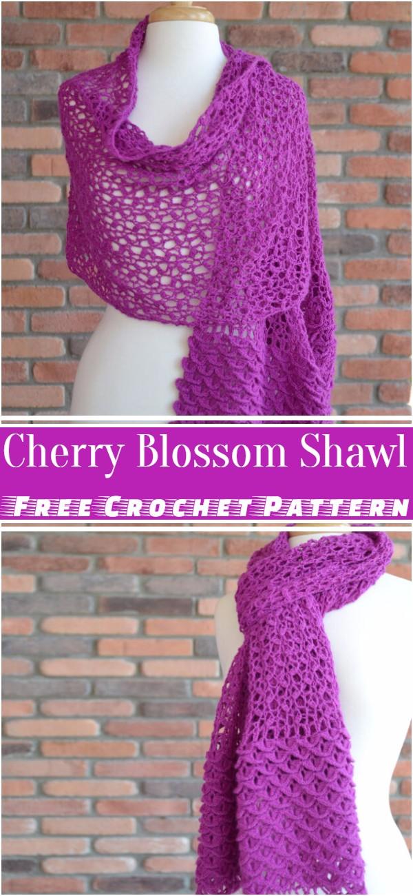 Crochet Cherry Blossom Shawl Pattern