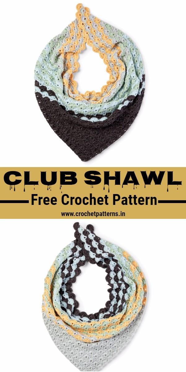 Crochet Club Shawl Pattern