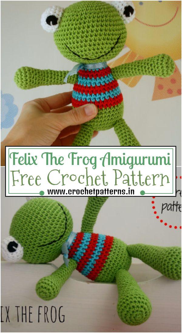 Crochet Felix The Frog Amigurumi Pattern