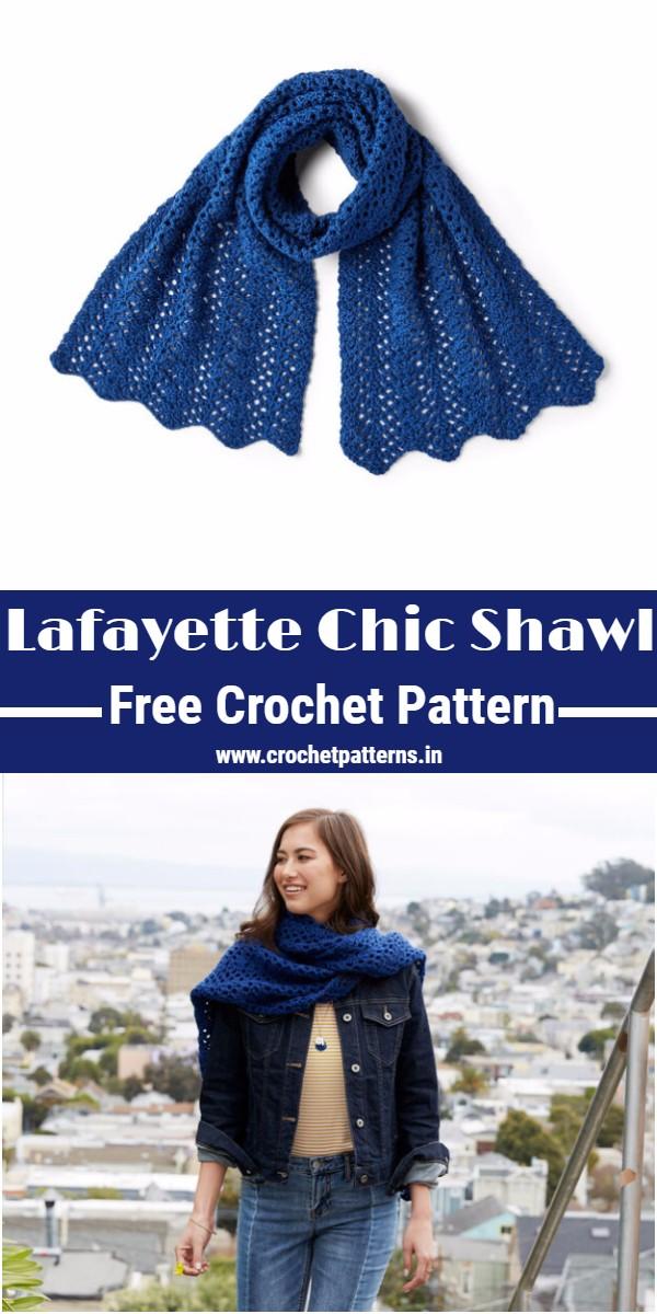 Crochet Lafayette Chic Shawl Pattern