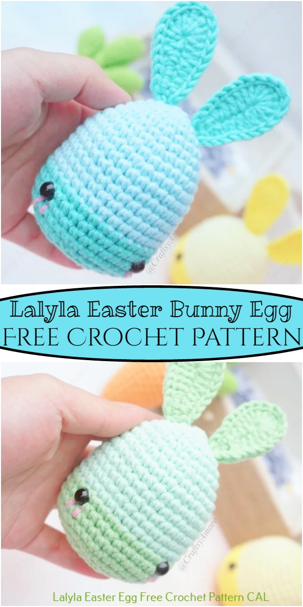 Crochet Lalyla Easter Bunny Egg Pattern