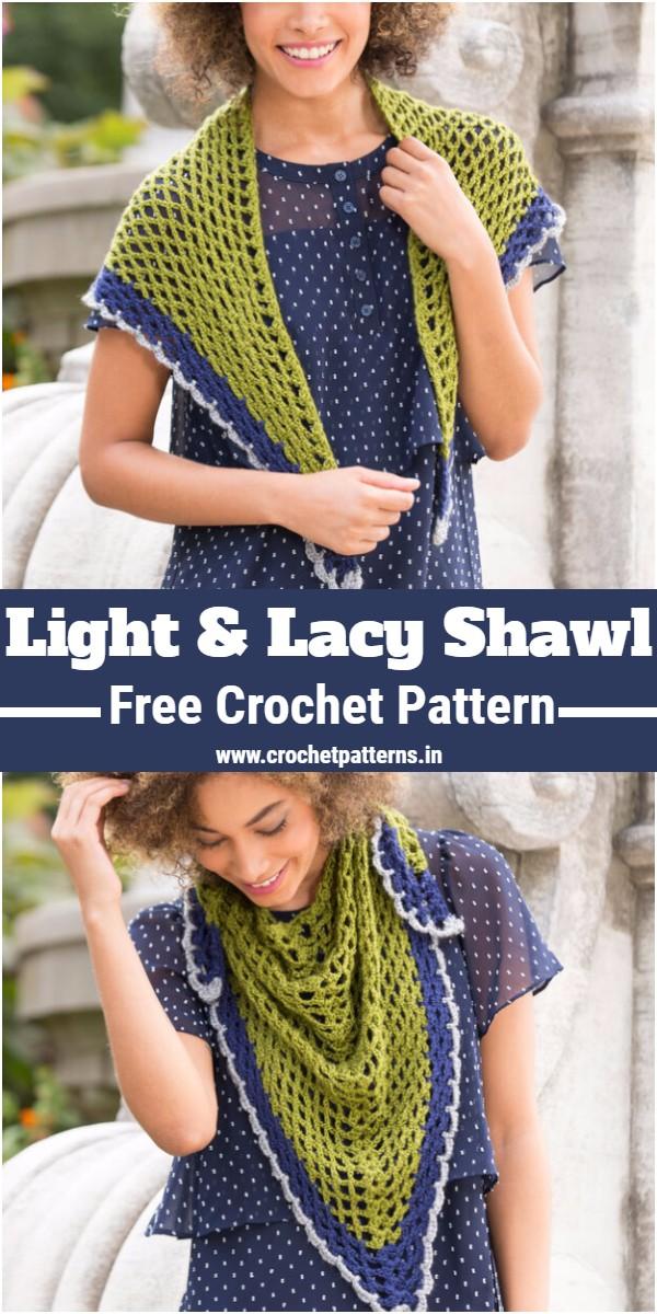 Crochet Light & Lacy Shawl Pattern