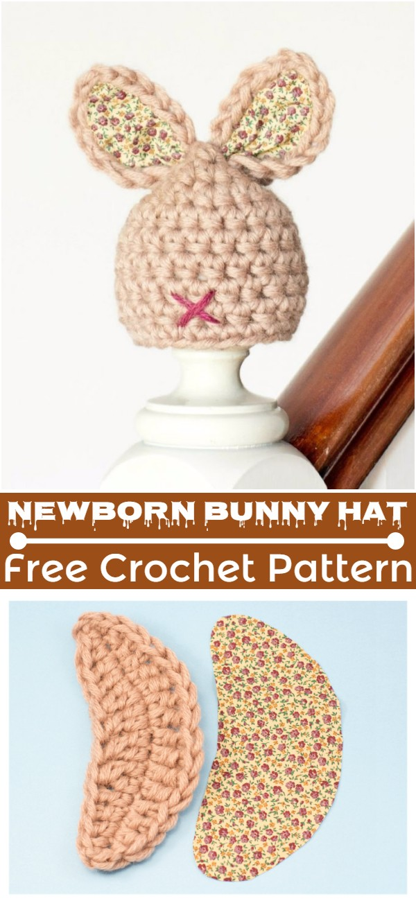 Crochet Newborn Bunny Hat Pattern