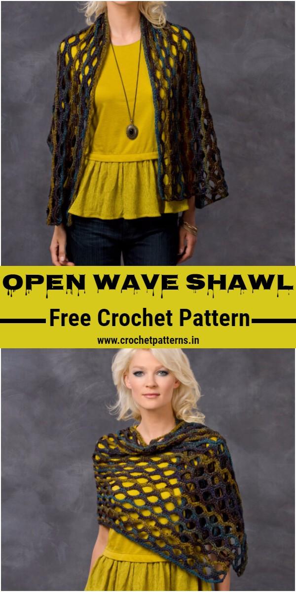 Crochet Open Wave Shawl Pattern