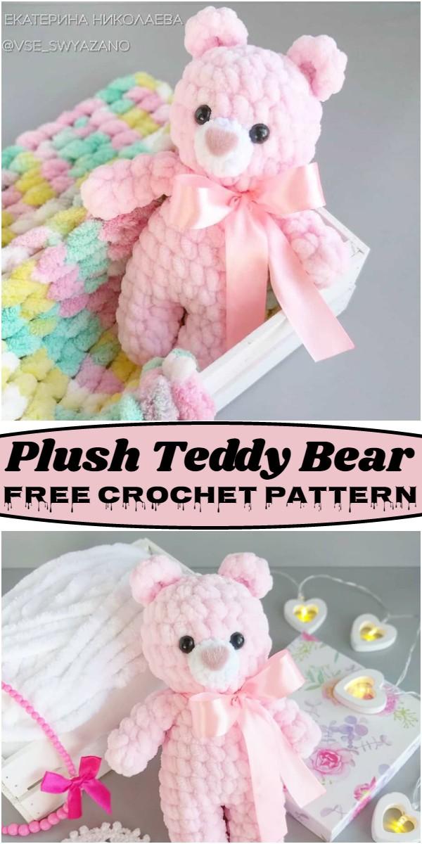 Crochet Plush Teddy Bear Pattern