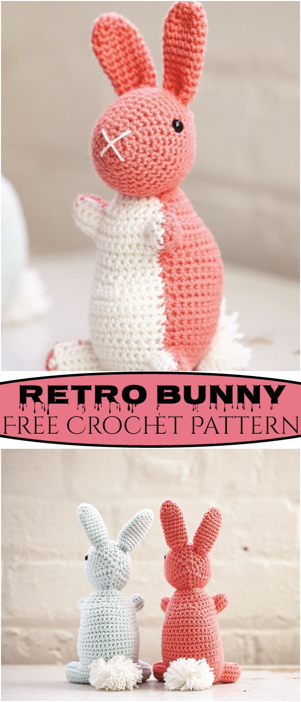 Crochet Retro Bunny Pattern