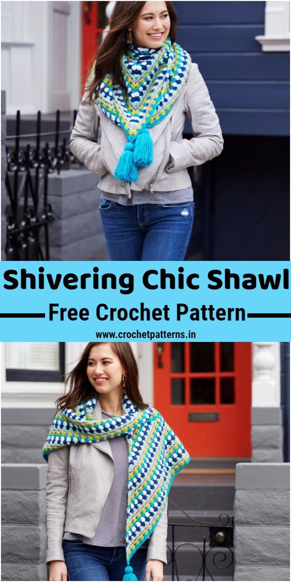 Crochet Shivering Chic Shawl Pattern