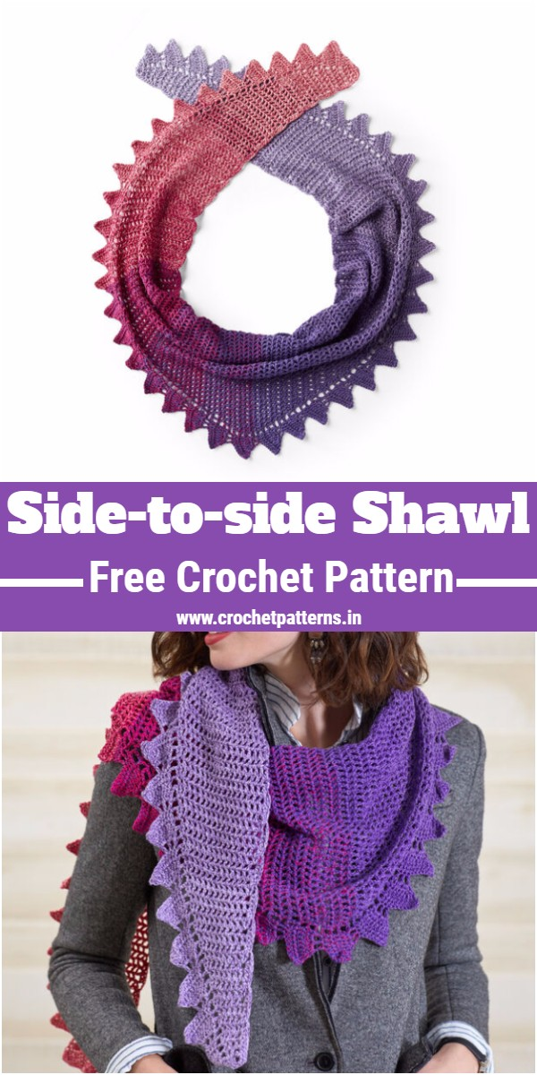 Crochet Side-to-side Shawl Pattern