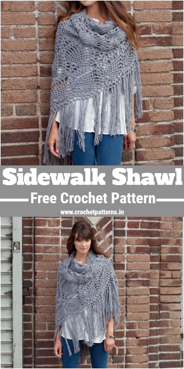 Crochet Sidewalk Shawl Pattern