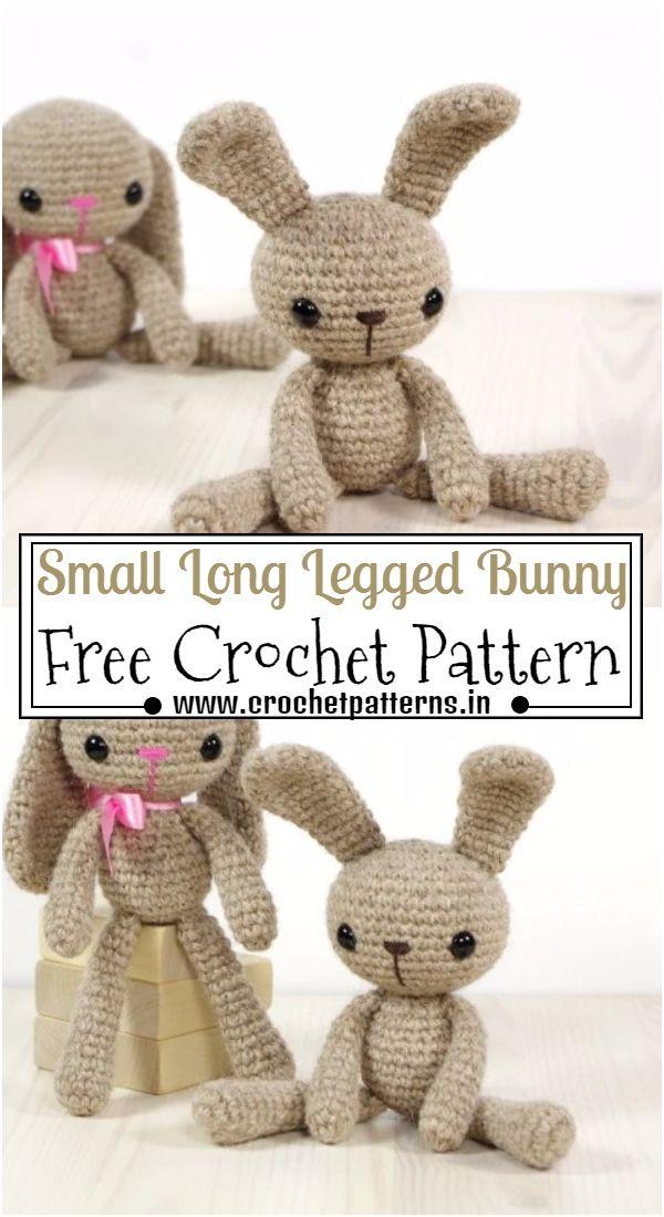 Crochet Small Long Legged Bunny Pattern
