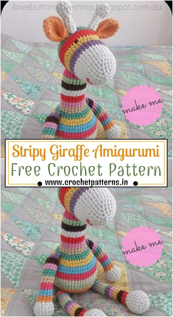 Crochet Stripy Giraffe Amigurumi Pattern
