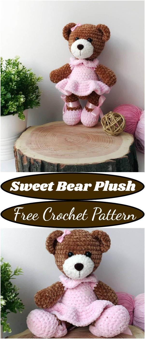 Crochet Sweet Bear Plush Pattern
