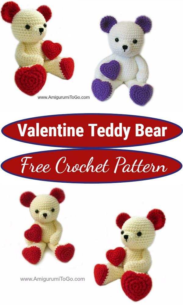 Crochet Valentine Teddy Bear Pattern
