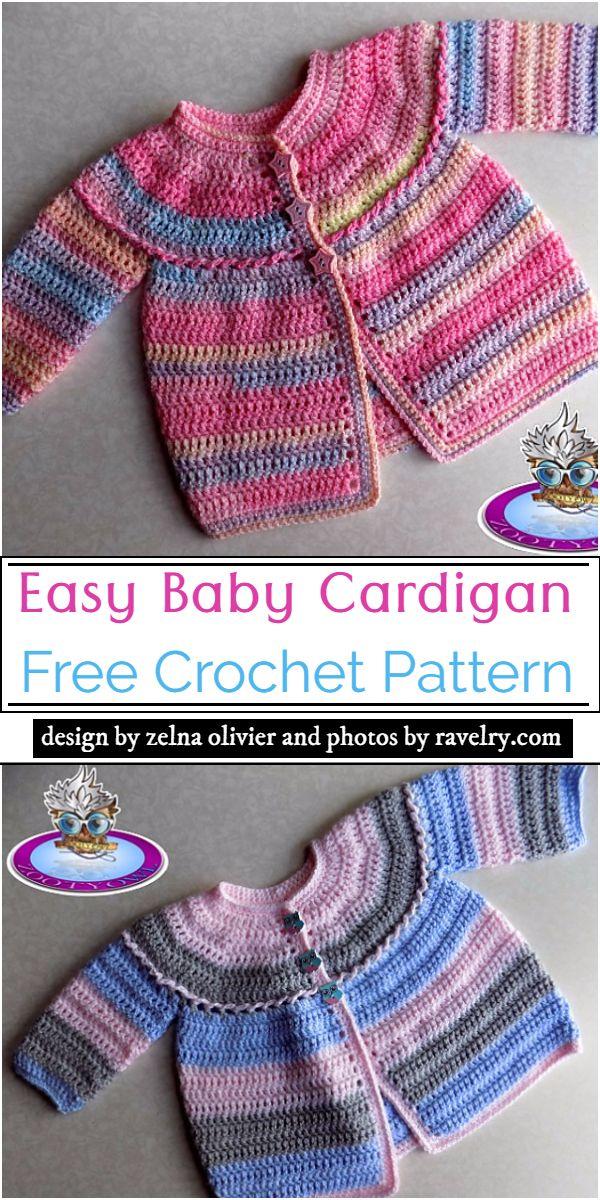 Easy Baby Cardigan Crochet Pattern