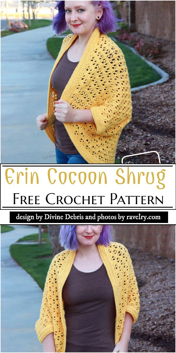 Erin Cocoon Shrug Crochet Pattern