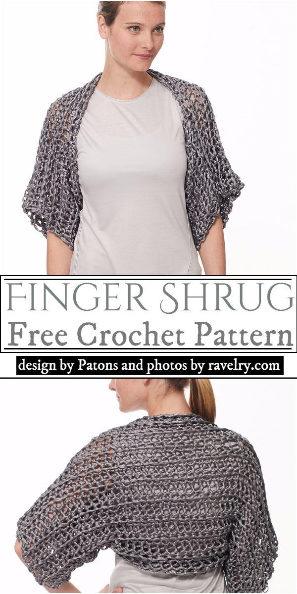 Finger Shrug Crochet Pattern
