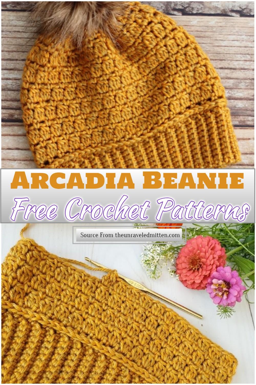 Free Crochet Arcadia Beanie Pattern