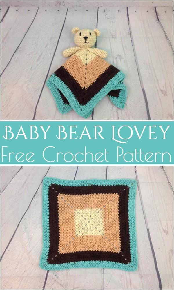 Free Crochet Baby Bear Lovey Pattern