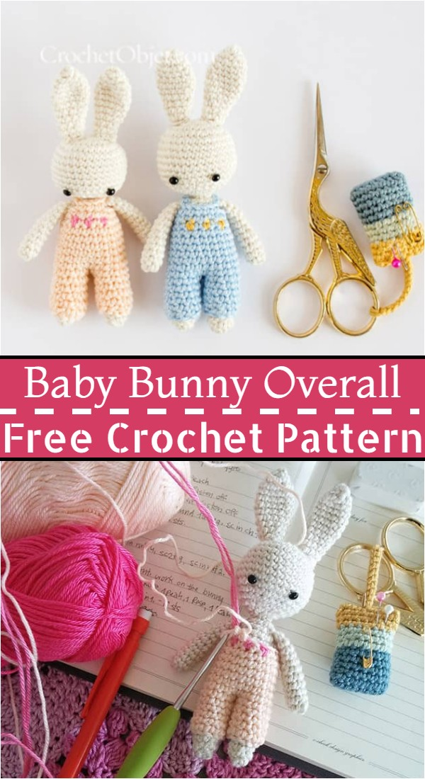 Free Crochet Baby Bunny Overall Pattern